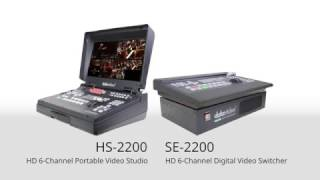 Datavideo HS-2200 HDSD 6-Channel Portable Video Studio | SE-2200 HDSD 6 CH Digital Video Switcher