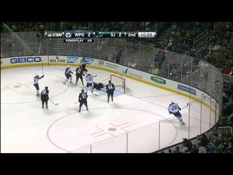 Winnipeg Jets vs  San Jose Sharks 27.03.2014