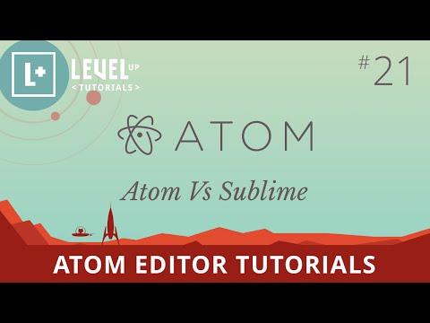 Atom Editor Tutorials #21 - Atom Vs Sublime Text