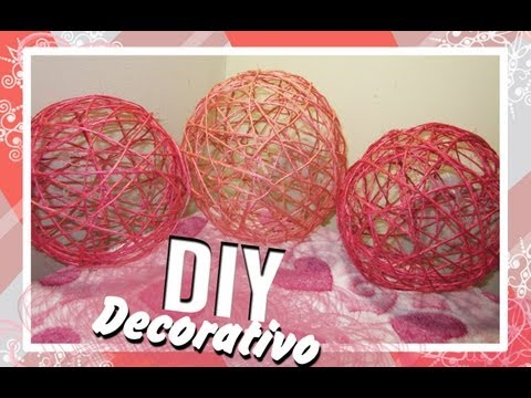 boule d coratif en ficelle les diy de rosie rose. Black Bedroom Furniture Sets. Home Design Ideas