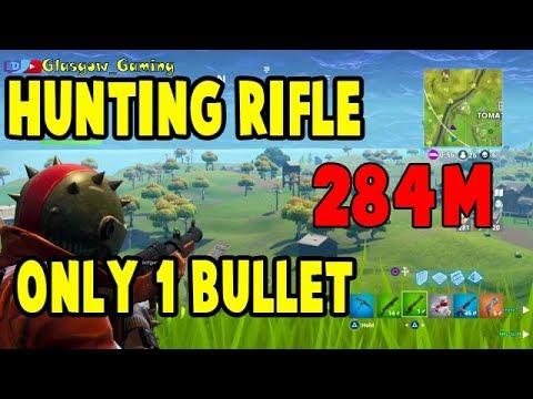 Fortnite || 284m Hunting Rifle Kill || World record