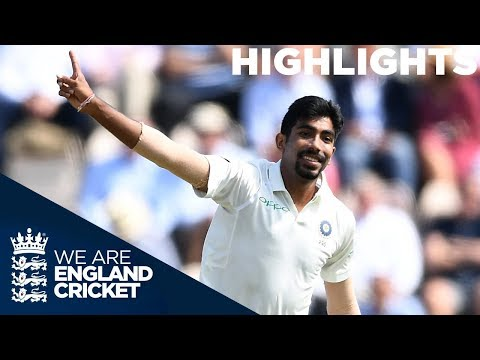 Bumrah Brilliant as Curran Gives England Hope | England v India 4th Test Day 1 2018 - Highlights (видео)