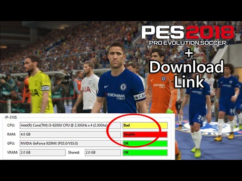 PES 2018 PC tested with 4GB RAM