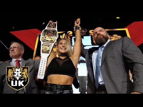 Witness The Post-show Celebration Of New NXT UK Women's Champion Rhea Ripley: Nov. 28, 2018