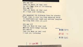 Nick Cave & The Bad Seeds - We Real Cool (Lyric Video)