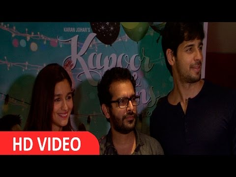Alia Bhatt, Siddharth & Fawad Khan Visit PVR To See The Audions Reaction For Kapoor & Sons UNCUT