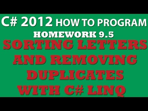 C# 9.5: Sorting Letters and Removing Duplicates With LINQ