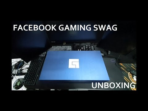 UNBOXING FACEBOOK GAMING SWAG