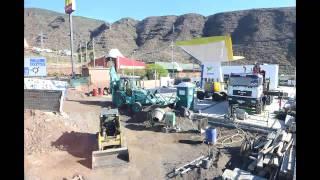 Timelapse - Construcción de la Estación de Servicio DISA Caletillas en Tenerife