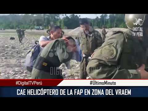 CAE HELICÓPTERO DE LA FAP EN ZONA DEL VRAEM