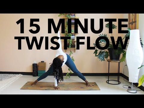15 Minute Twist Flow for Decompression | Yoga by Biola
