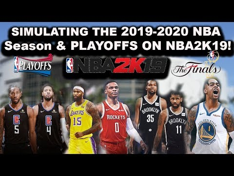 The 2019-2020 NBA Season & Playoffs Simulated In NBA2K19!!! (LIVE GAMES)