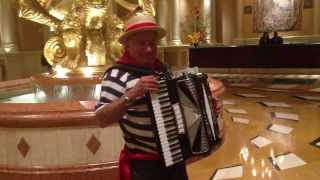 University Of Michigan Fight Song - Accordion Player At The Venetian Casino Hotel In Las Vegas