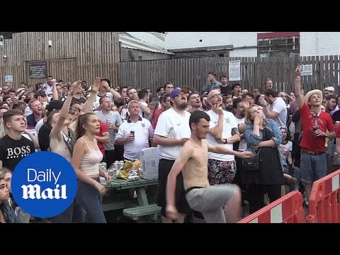 England fans react to Croatia goal and match heads into extra time - Daily Mail