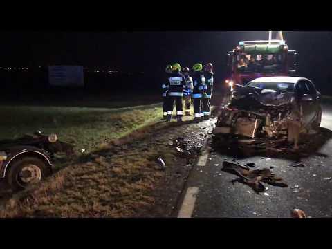 Wideo1: Wypadek na trasie Gostyń - Krobia
