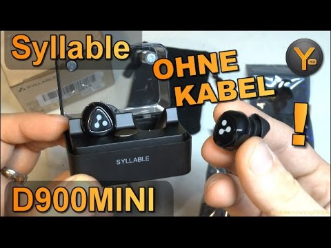 Komplett kabellose Bluetooth Ohrhörer (wie Airpods) Syllable D900MINI mit Ladestation