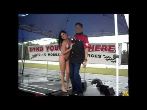 Nopi Chick on D and D Mobile Dyno at Nopi Super National 2013