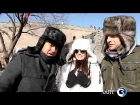Freezing on the Great Wall of China