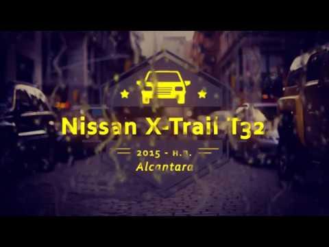 """Чехлы на Nissan X-Trail T32, серии """"Alcantara"""" - серая строчка"""