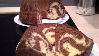 Mramor / Tigar kolač - Marbré ou gâteau tigré - Zebra Bundt Cake