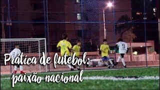 Prática de futebol: paixão nacional