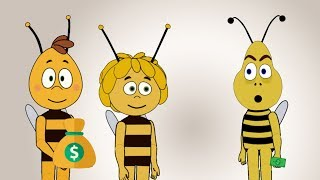 Animal Animated Video Bee Coloring Wall | Cartoon Animation Videos for Toddlers
