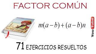 Factor Común Monomio y Polinomio  EJERCICIO 43.