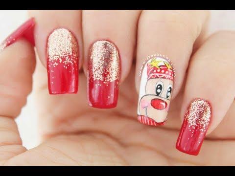 Videos de uñas - Diseño de uñas Reno Navideño  Deko Uñas