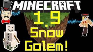 Minecraft 1.9 Update Latest SNOWMAN MOB! Craftable Snow Golem!