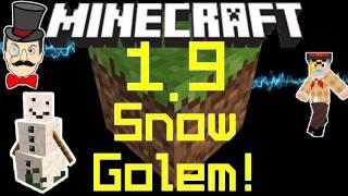 Minecraft 1.9 Update Latest SNOWMAN MOB! Craftable Snow Golem!