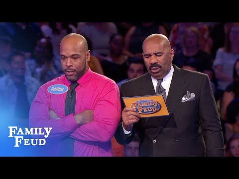 Final answer! He needs 21 points for $20,000! | Family Feud