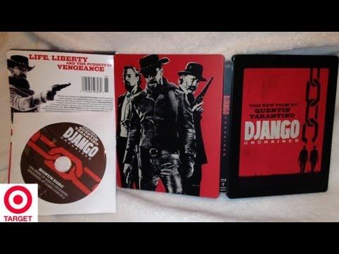 Django Unchained SteelBook Target Exclusive Blu-ray/DVD Unboxing - (2012) - Quentin Tarantino