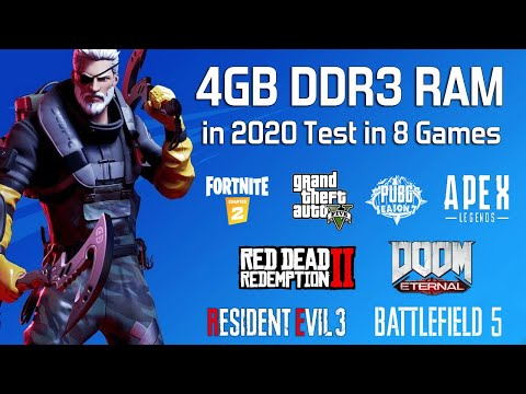 4GB DDR3 RAM in 2020 Test in 8 Games