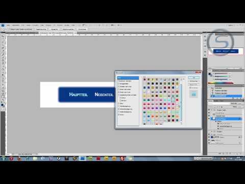 Adobe Photoshop Tutorial – Homepage Navigation Erstellen Teil2