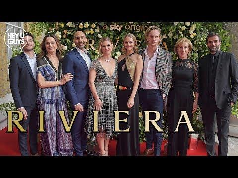 Riviera Season 2 Premiere Interviews - Julia Stiles, Poppy Delevingne, Lena Olin