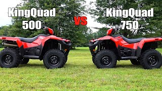 8. Suzuki KingQuad 750 vs 500 Shootout