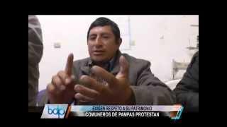 COMUNIDAD CAMPESINA DE PAMPAS PROTESTA