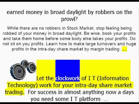 Making Money in Share Market Everyday by Intraday Trading