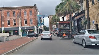 Savannah (GA) United States  city images : Driving Downtown - Savannah Georgia USA