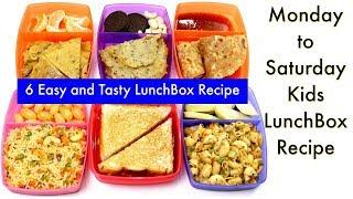 ६ दिन बनाए ६ तरीके के टिफ़िन बच्चो के लिए | 6 Lunch Box Recipes for Kids | KabitasKitchen