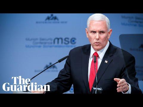 Mike Pence rebukes European powers over Iran and Venezuela
