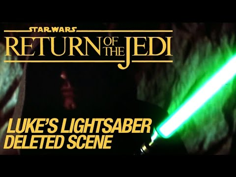 Star Wars VI Return Of The Jedi Deleted Scene: Luke's Lightsaber