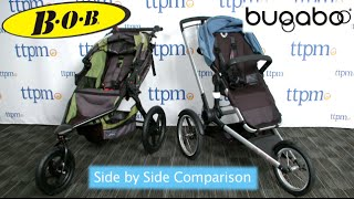 Side by Side Jogging Stroller Comparison: Britax Bob Revolution Flex vs. Bugaboo Runner