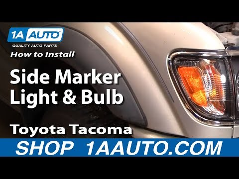 How To Install Replace Side Marker Light and Bulb Toyota Tacoma 01-04 1AAuto.com