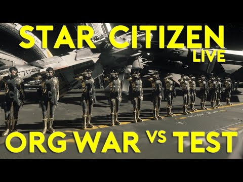 Star Citizen War | WHP Vs TEST SQUADRON | THE BATTLE FOR KAREAH (Star Citizen 2016 PC Gameplay)