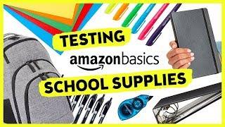 Video Trying AmazonBasics School Supplies | Sea Lemon MP3, 3GP, MP4, WEBM, AVI, FLV Agustus 2018