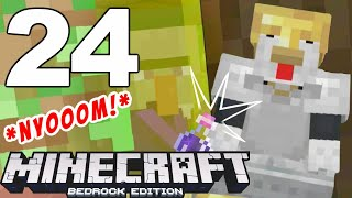 "Minecraft Bedrock : ""SPEEDY WITCH"" ~ 24"