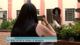 Garça : professores e voluntários gravam trechos de livros que vão parar na internet