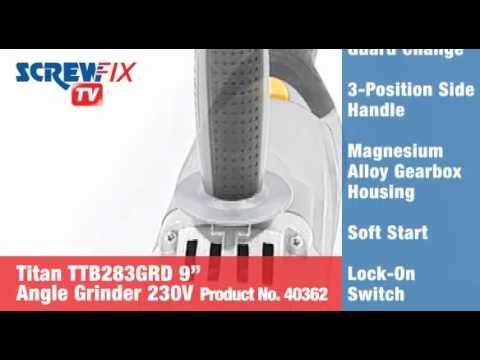 "Titan TTB283GRD 2350W 9""  Angle Grinder 230V"