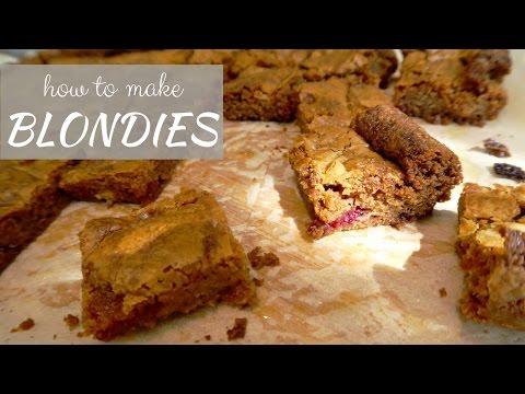blondies, i cugini dei brownies - ricetta